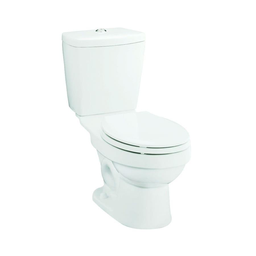 Sterling Karsten White 1.6; 0.8-GPF 12-in Rough-In WaterSense Round Dual-Flush 2-Piece Standard Height Toilet
