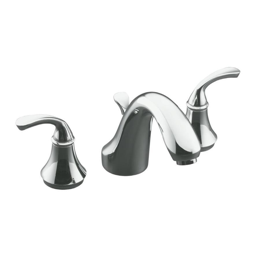 KOHLER Forte Polished Chrome 2-Handle Fixed Deck Mount Bathtub Faucet
