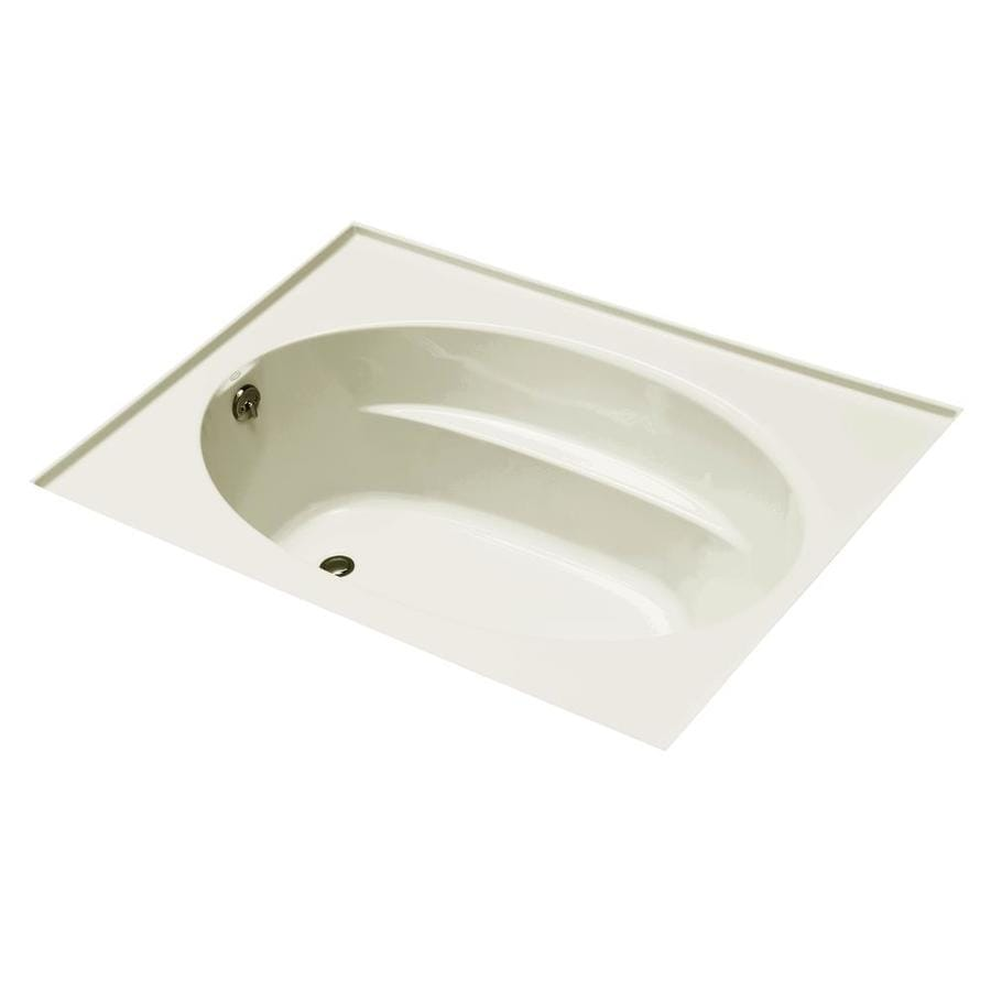 KOHLER Windward Biscuit Acrylic Oval In Rectangle Drop-in Bathtub with Left-Hand Drain (Common: 42-in x 60-in; Actual: 22.25-in x 42-in x 60-in)