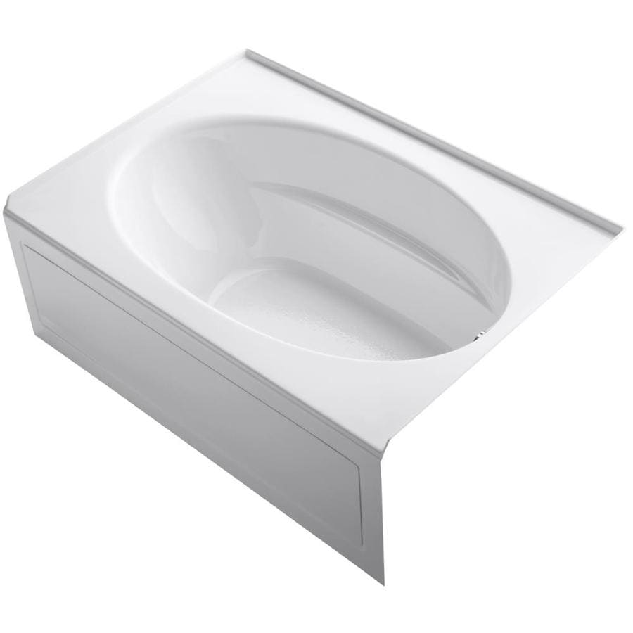 KOHLER Windward White Acrylic Oval In Rectangle Skirted Bathtub with Right-Hand Drain (Common: 42-in x 60-in; Actual: 22.25-in x 42-in x 60-in)