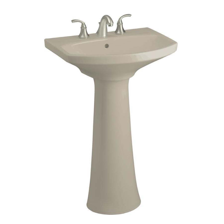KOHLER Cimarron 34.5-in H Sandbar Vitreous China Pedestal Sink