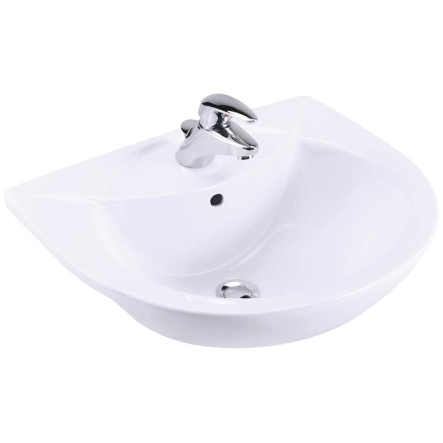 KOHLER Odeon White Drop-in Rectangular Bathroom Sink with Overflow