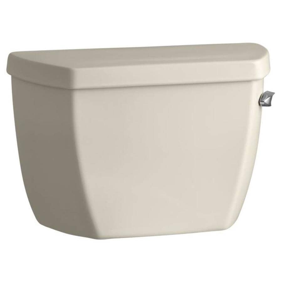 KOHLER Highline Almond 1.0-GPF (3.79-LPF) 12 Rough-In Single-Flush High-Efficiency Toilet Tank