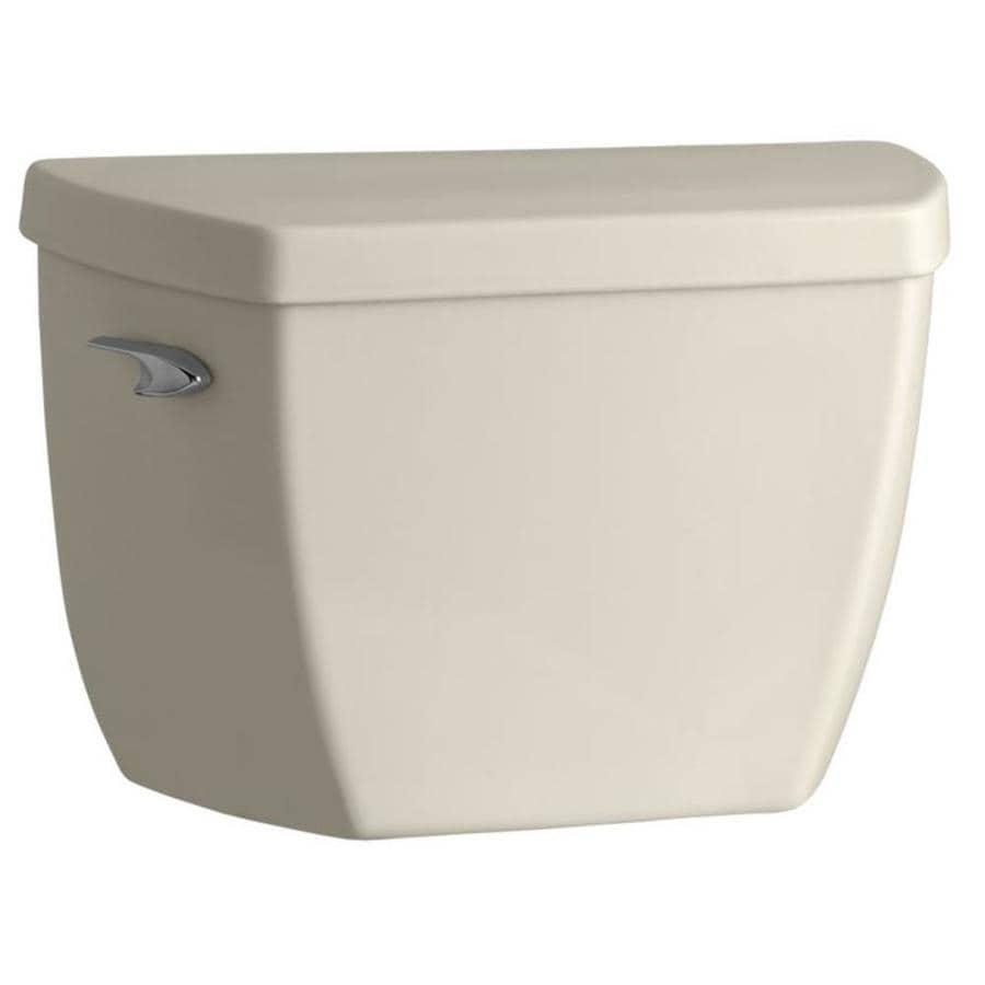 KOHLER Highline Almond 1.0-GPF (3.79-LPF) 12 Rough-In Single-Flush High-Efficiency Toilet Tank