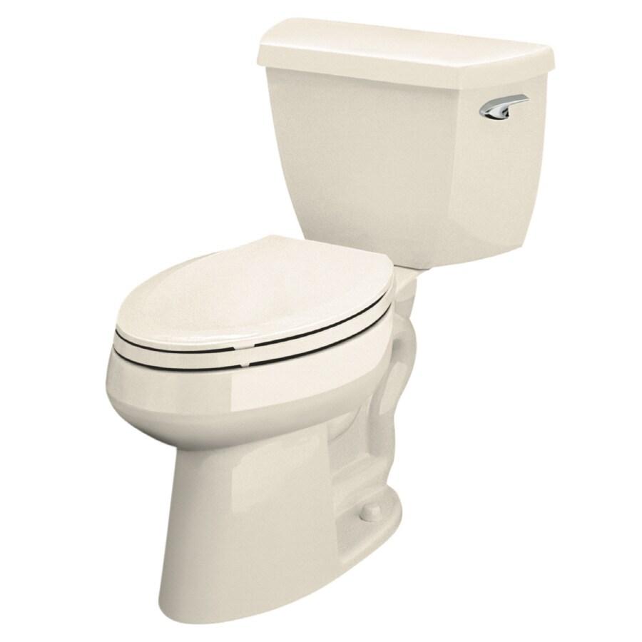 KOHLER Highline Almond 1.0-GPF (3.79-LPF) 12 Rough-In WaterSense Elongated Pressure Assist 2-Piece Standard Height Toilet