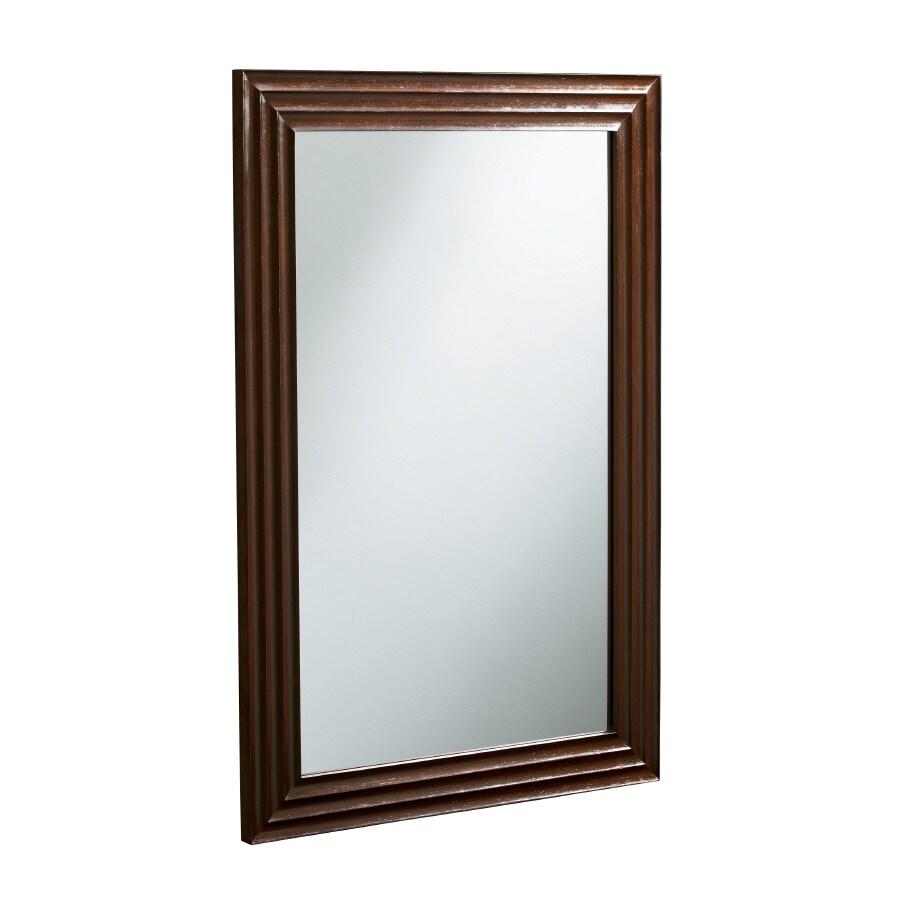 KOHLER Escale 38-in H x 26-in W Engineered Wenge Rectangular Bathroom Mirror