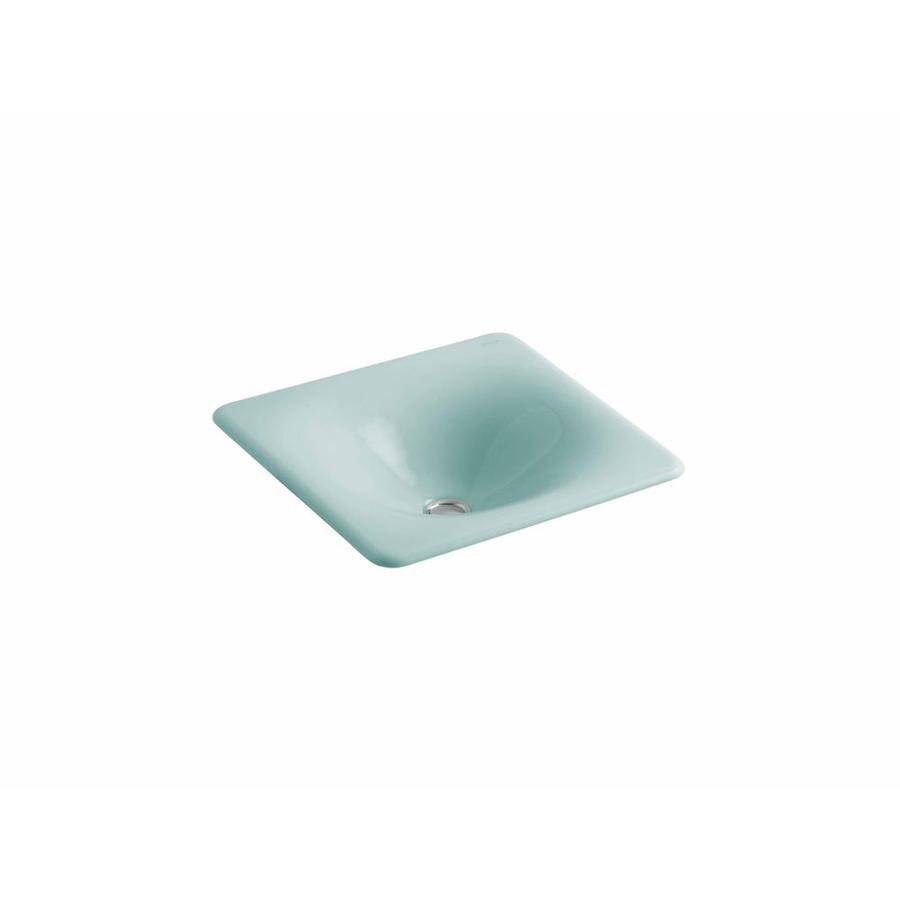 KOHLER Vapour Green Cast Iron Bathroom Sink