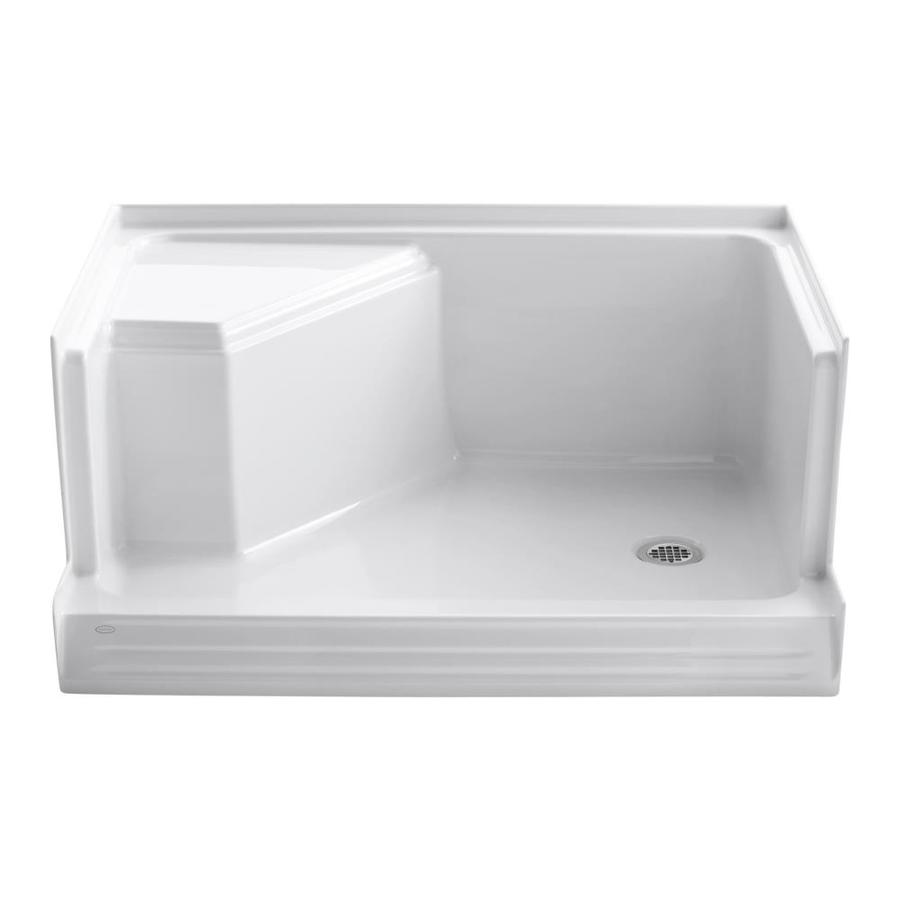 KOHLER Memoirs White Acrylic Shower Base (Common: 36-in W x 48-in L; Actual: 36-in W x 48-in L)