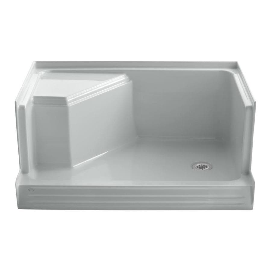 KOHLER Memoirs Ice Grey Acrylic Shower Base (Common: 36-in W x 48-in L; Actual: 36-in W x 48-in L)