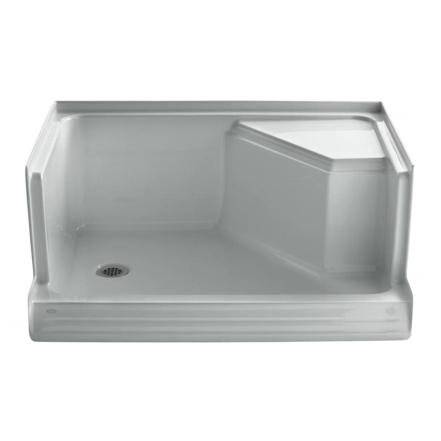 KOHLER Memoirs Ice Grey Acrylic Shower Base (Common: 36-in W x 48-in L; Actual: 36-in W x 48-in L)