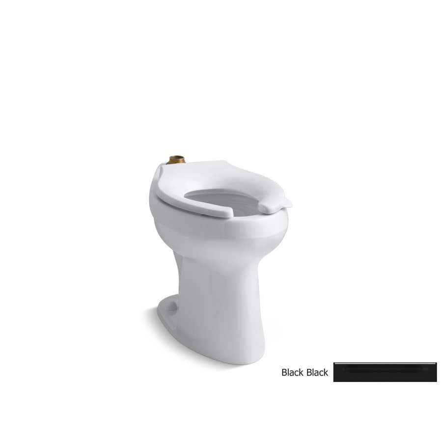 KOHLER Highline Chair Height Black Black 10-in Rough-In Elongated Toilet Bowl