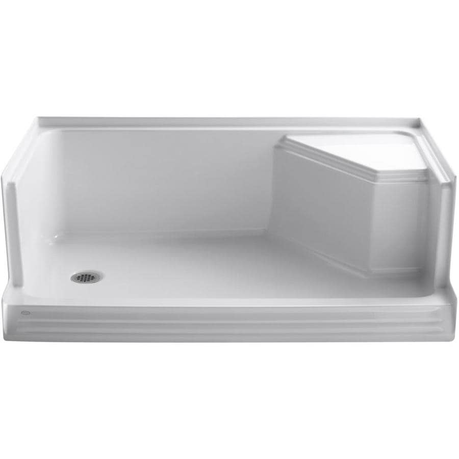 KOHLER Memoirs White Acrylic Shower Base (Common: 36-in W x 60-in L; Actual: 36-in W x 60-in L)