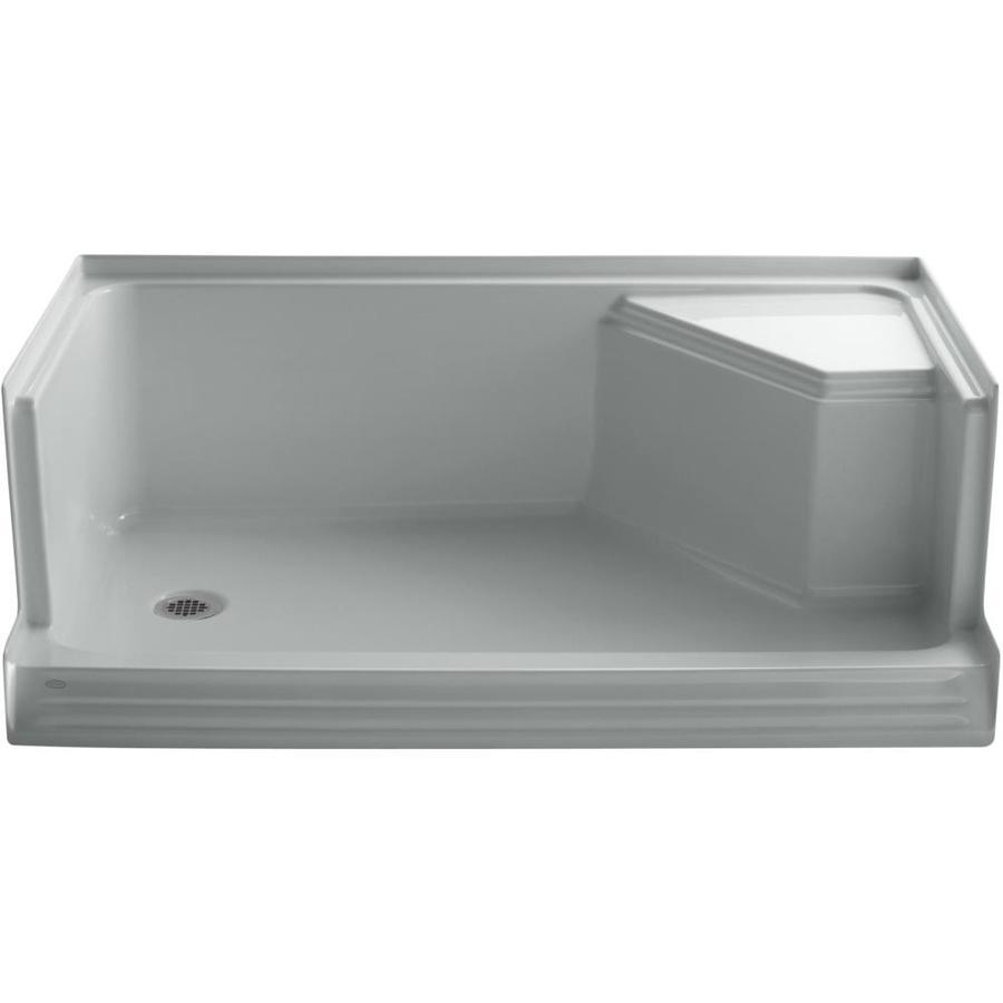 KOHLER Memoirs Ice Grey Acrylic Shower Base (Common: 36-in W x 60-in L; Actual: 36-in W x 60-in L)