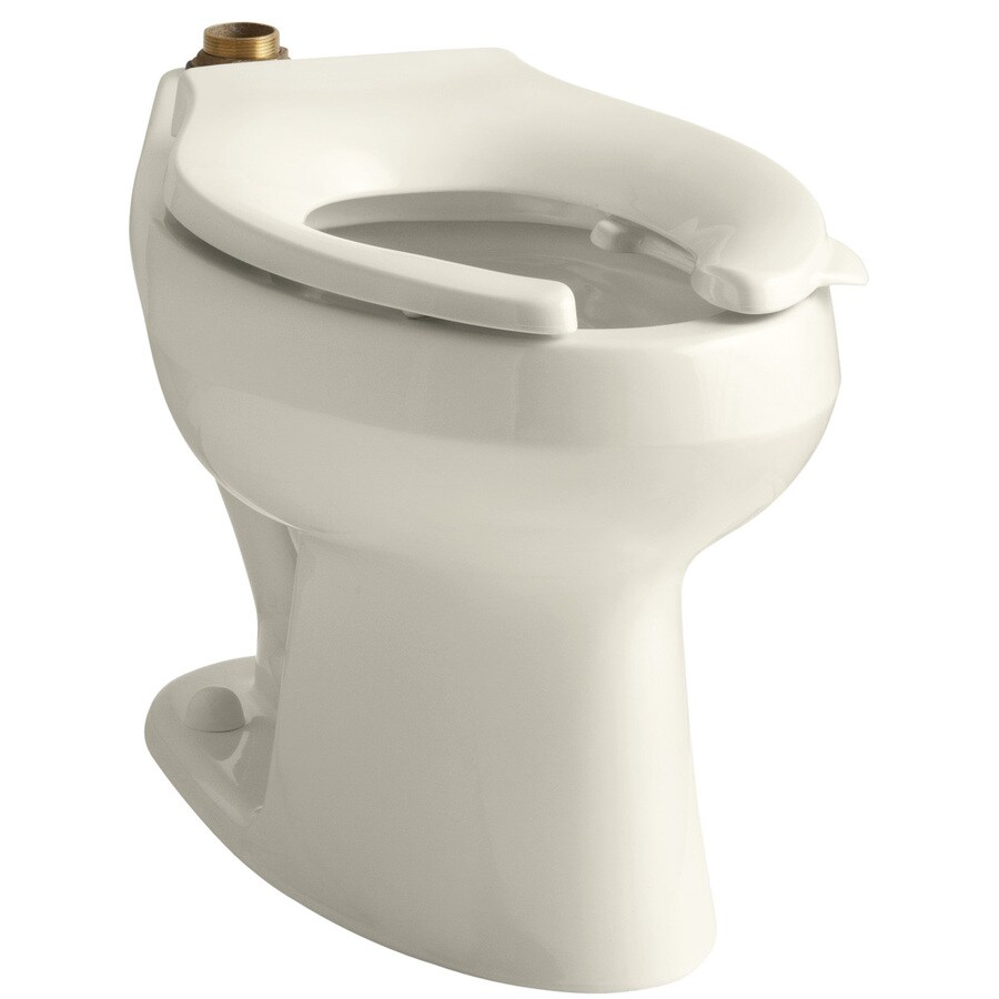 KOHLER Wellworth Standard Height Almond 12-in Rough-in Pressure Assist Elongated Toilet Bowl
