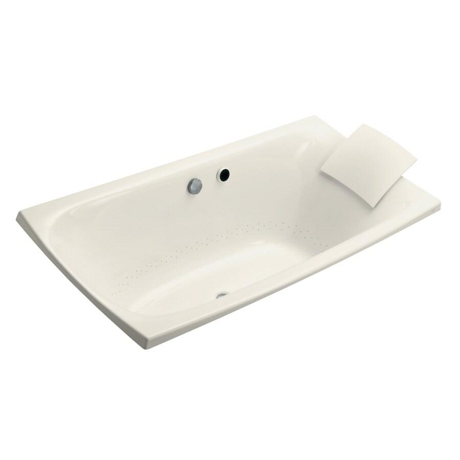 KOHLER Escale 72-in L x 36-in W x 24-in H Acrylic Rectangular Drop-in Air Bath