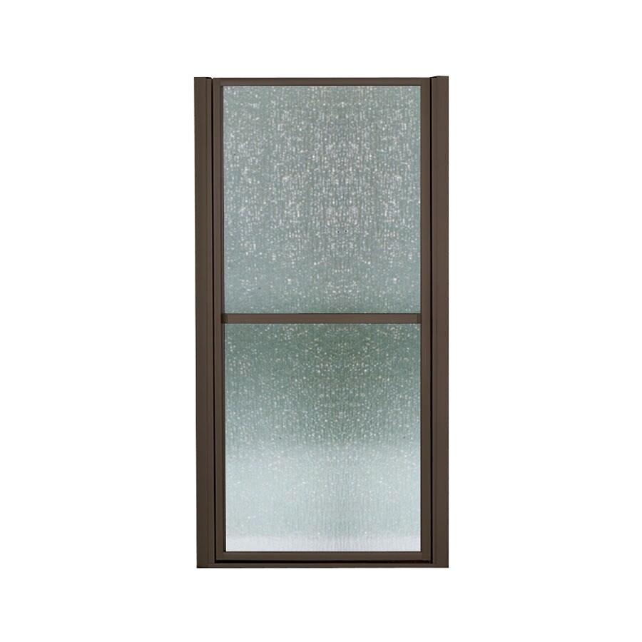 Sterling Finesse 33-in to 36-in Dark Bronze Hinged Shower Door