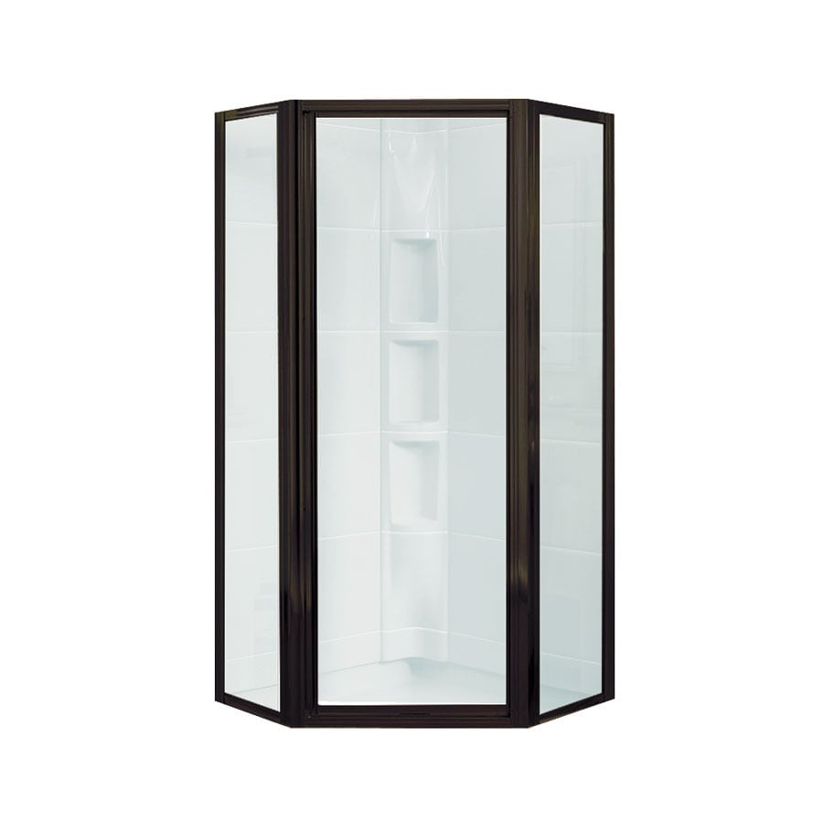 Sterling Intrigue 36.125-in W x 72-in H Dark Bronze Neo-Angle Shower Door