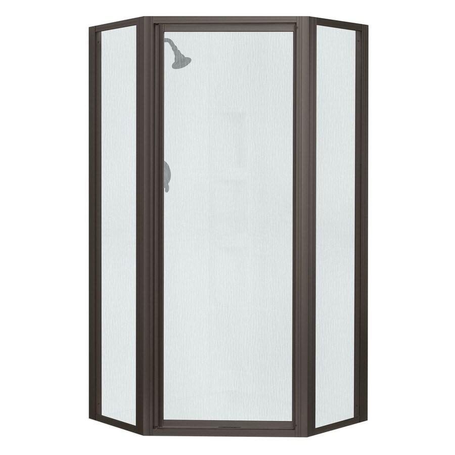 Sterling 36.125-in W x 72-in H Dark Bronze Neo-Angle Shower Door