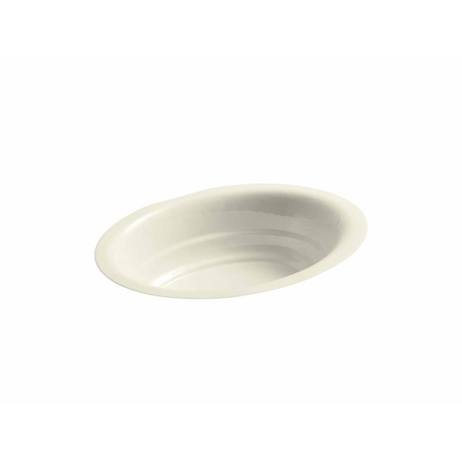 KOHLER Garamond Cane Sugar Cast Iron Undermount Oval Bathroom Sink