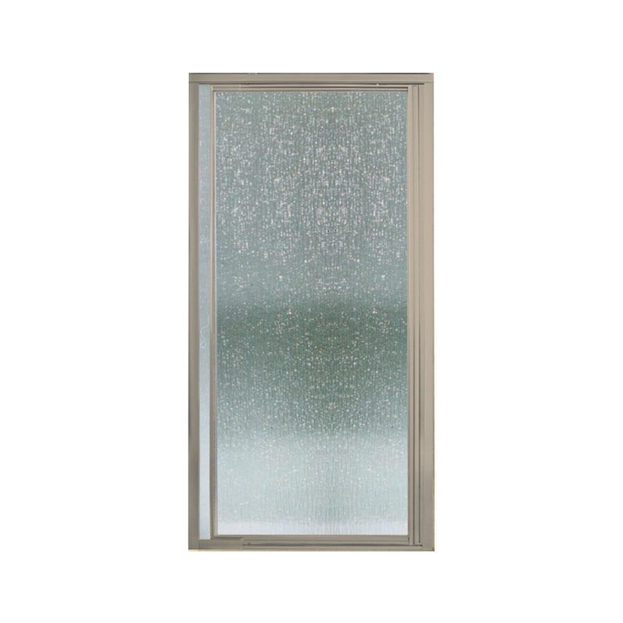 Sterling Vista Pivot II 31.25-in to 36-in Brushed Nickel Pivot Shower Door