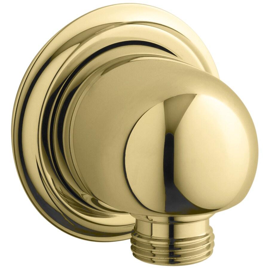 KOHLER Vibrant Polished Brass Shower Arm and Flange