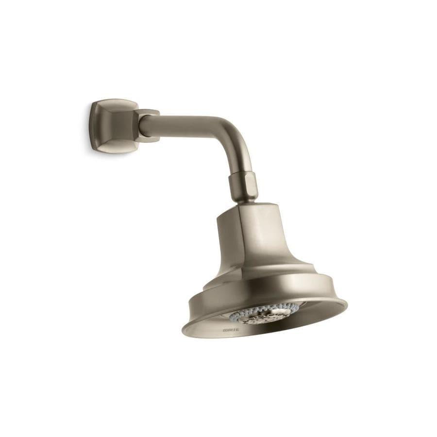 KOHLER Margaux 5.9375-in 2.5-GPM (9.5-LPM) Vibrant Brushed Bronze 3-Spray Rain Showerhead