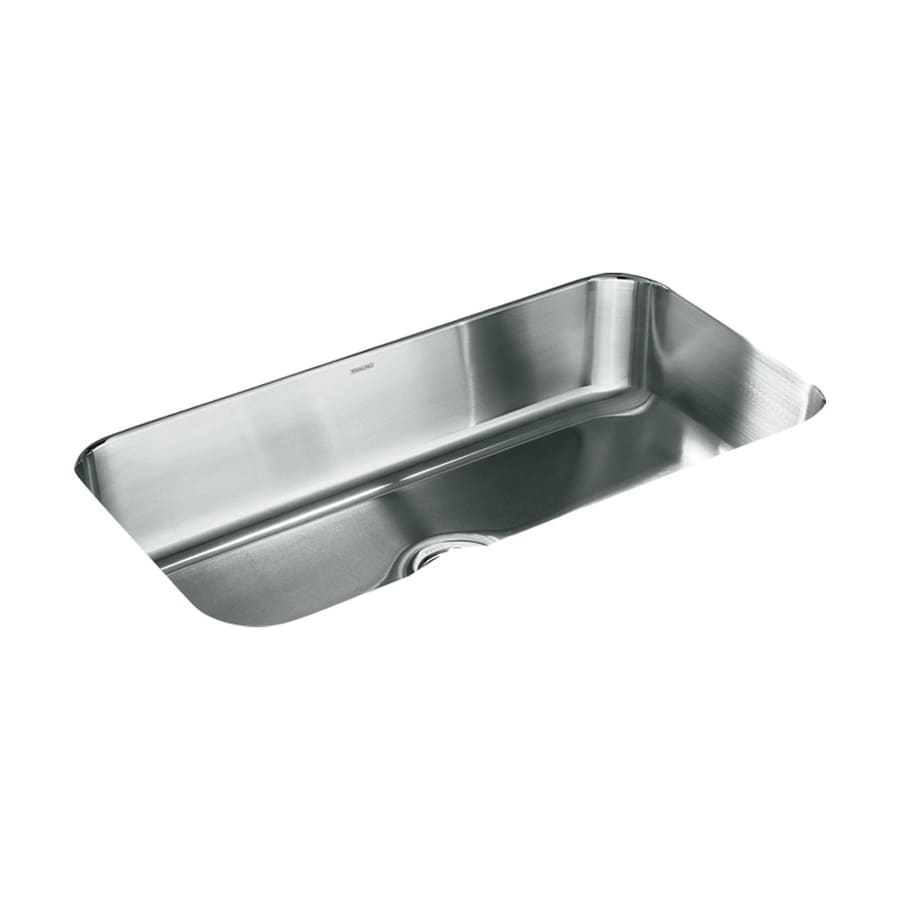 Sterling Mcallister 18-in x 32-in Satin Single-Basin Stainless Steel Undermount Residential Kitchen Sink