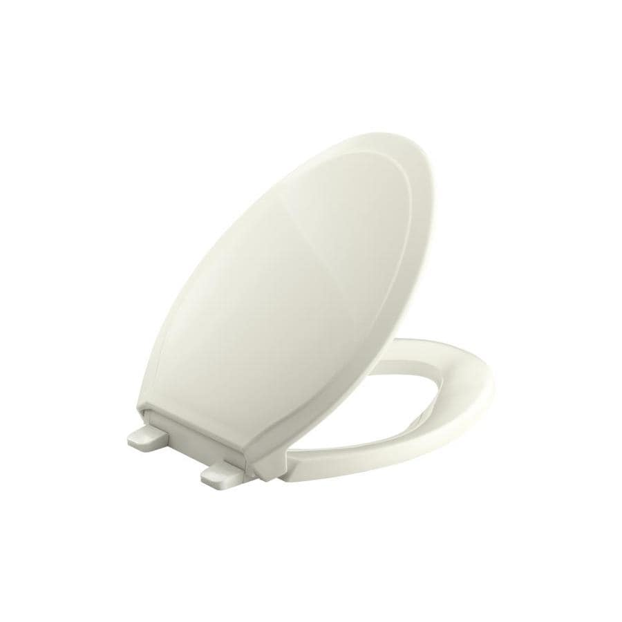 KOHLER Rutledge Biscuit Plastic Elongated Slow Close Toilet Seat