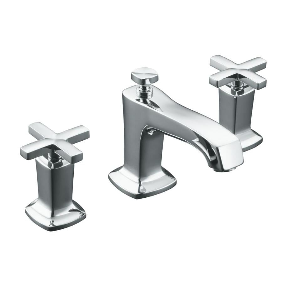 KOHLER Margaux Polished Chrome 2-Handle Widespread WaterSense Bathroom Faucet (Drain Included)