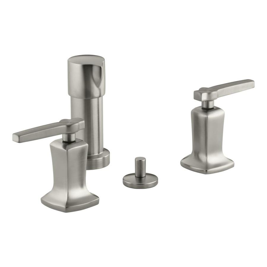 KOHLER Margaux Vibrant Brushed Nickel Vertical Spray Bidet Faucet with Trim Kit