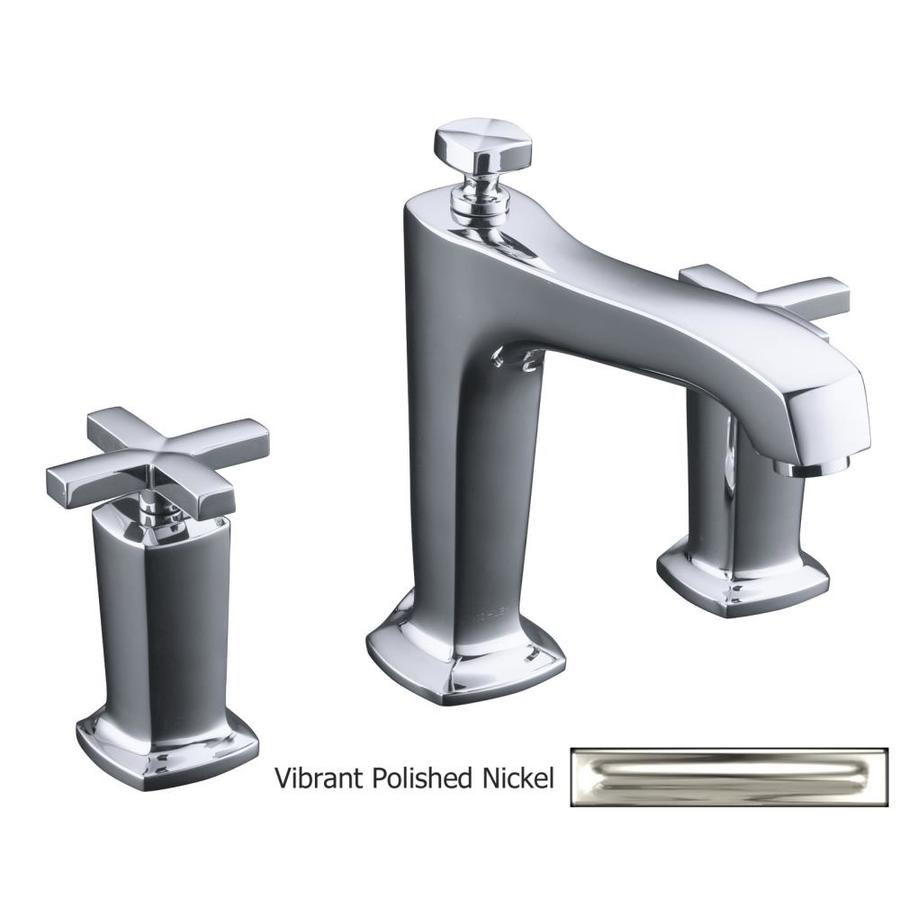 KOHLER Margaux Vibrant Polished Nickel 2-Handle Fixed Deck Mount Bathtub Faucet
