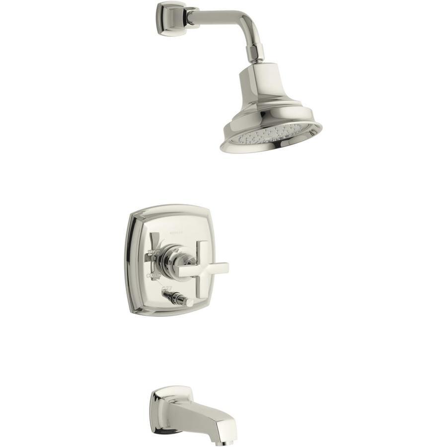 KOHLER Margaux Vibrant Polished Nickel 1-Handle Bathtub and Shower Faucet Trim Kit with Single Function Showerhead