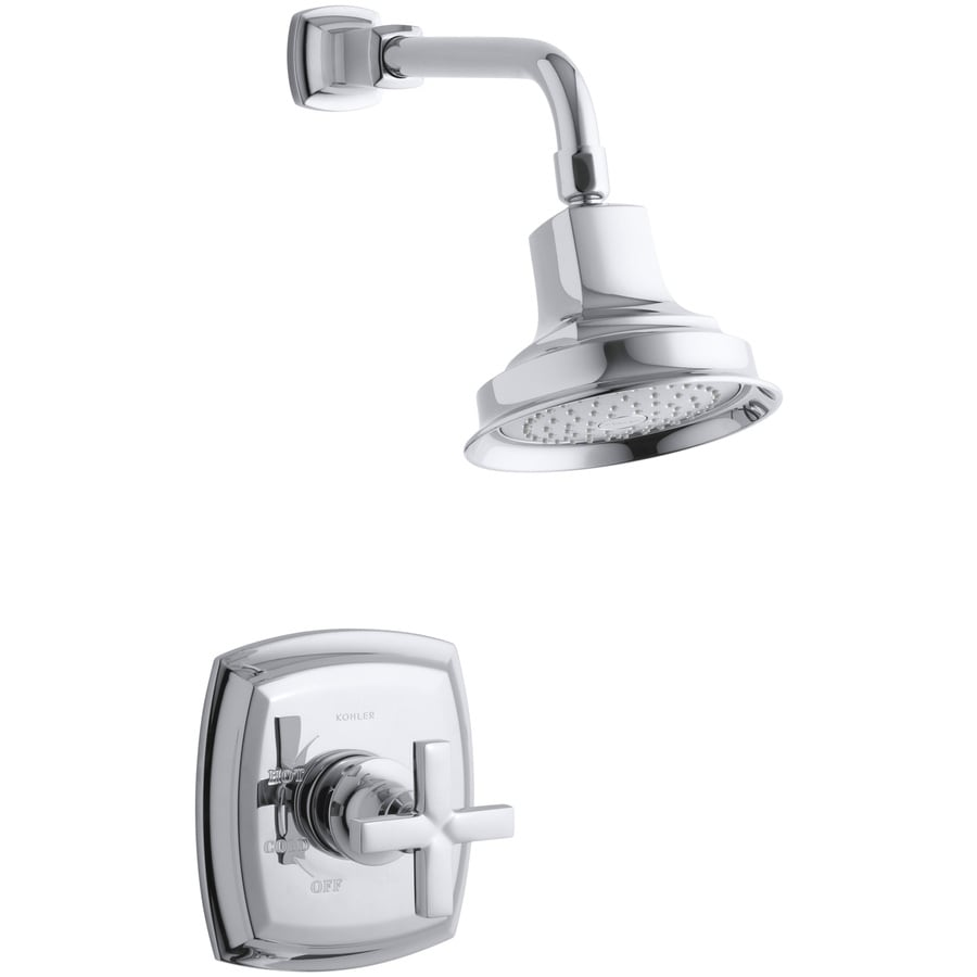 KOHLER Margaux Polished Chrome 1-Handle Shower Faucet Trim Kit with Single Function Showerhead