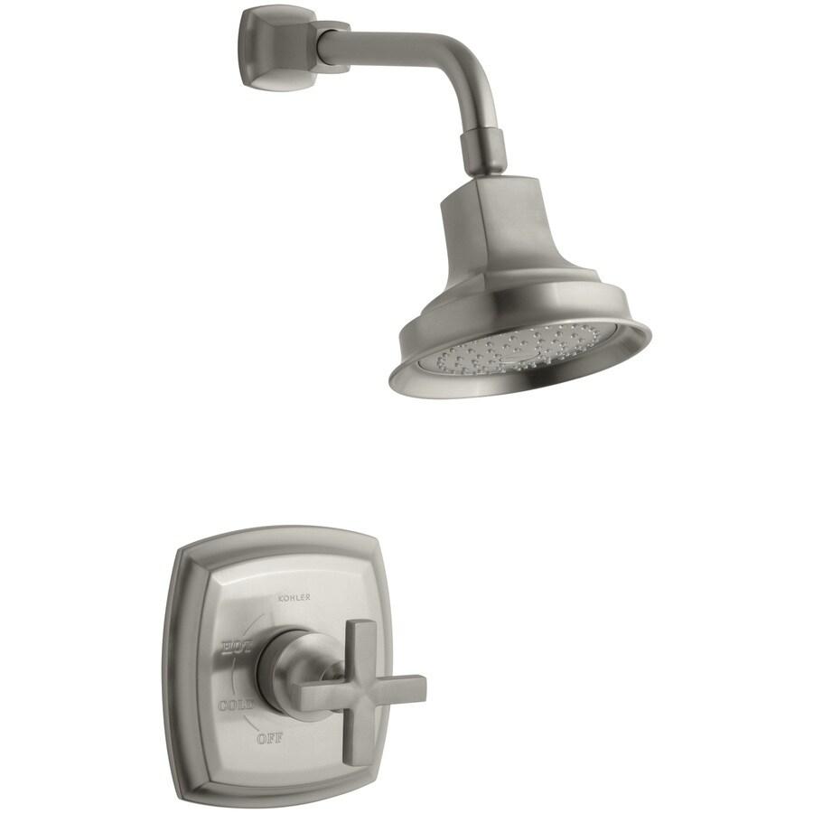KOHLER Margaux Vibrant Brushed Nickel 1-Handle Shower Faucet Trim Kit with Single Function Showerhead