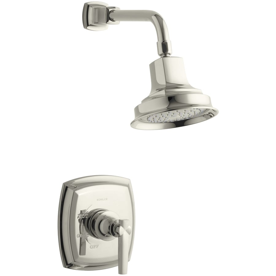KOHLER Margaux Vibrant Polished Nickel 1-Handle Shower Faucet Trim Kit with Single Function Showerhead
