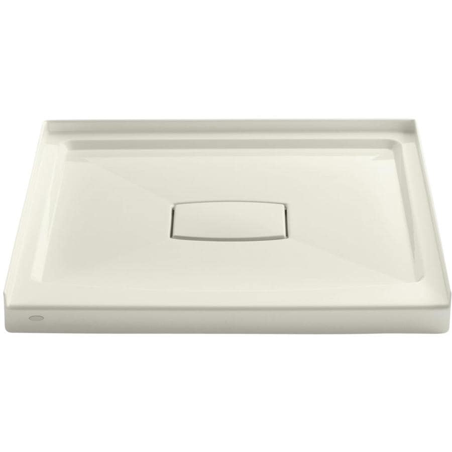 KOHLER Archer Biscuit Acrylic Shower Base (Common: 36-in W x 36-in L; Actual: 36-in W x 36-in L)