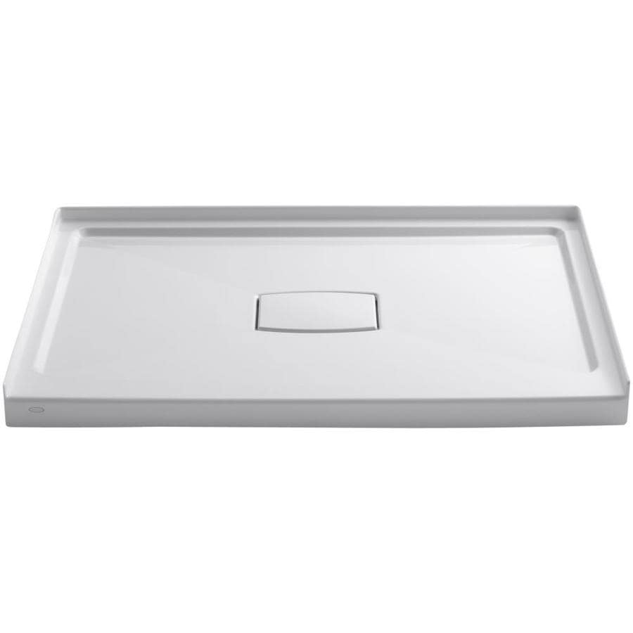 KOHLER Archer White Acrylic Shower Base (Common: 36-in W x 48-in L; Actual: 36-in W x 48-in L)