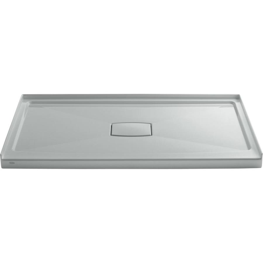 KOHLER Archer Ice Grey Acrylic Shower Base (Common: 36-in W x 60-in L; Actual: 36-in W x 60-in L)