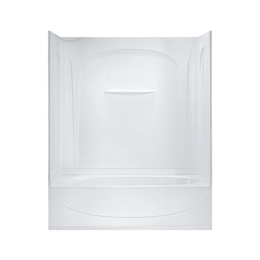 Sterling Acclaim White Fiberglass and Plastic Composite Oval In Rectangle Skirted Bathtub with Right-Hand Drain (Common: 30-in x 60-in; Actual: 74.25-in x 30.5-in x 60.25-in)