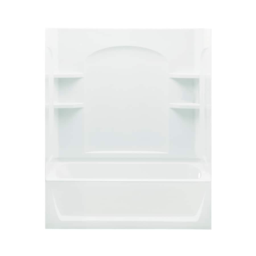 Sterling Skirted White Fiberglass and Plastic Composite Rectangular Skirted Bathtub with Right-Hand Drain (Common: 32-in x 60-in; Actual: 74-in x 32-in x 60.25-in)