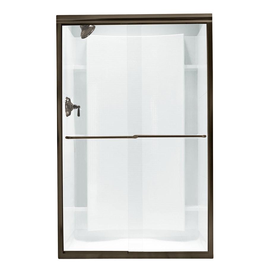 Sterling Finesse 42.625-in to 47.625-in W x 70.0625-in H Dark Bronze Sliding Shower Door