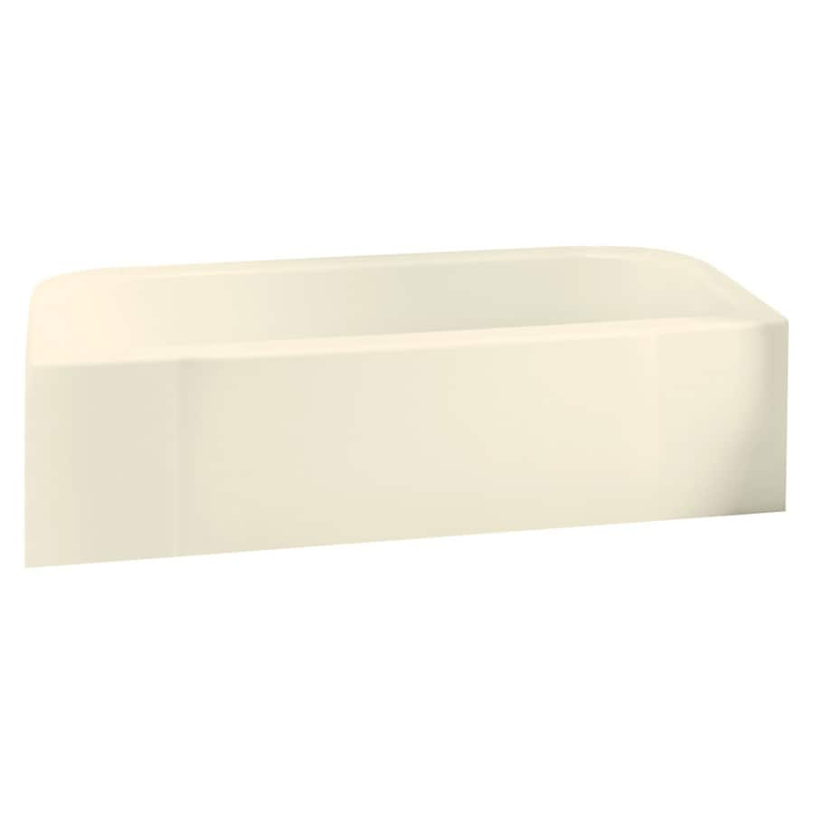 Sterling Accord Biscuit Fiberglass and Plastic Composite Rectangular Skirted Bathtub with Right-Hand Drain (Common: 30-in x 60-in; Actual: 17-in x 30.5-in x 60.25-in)
