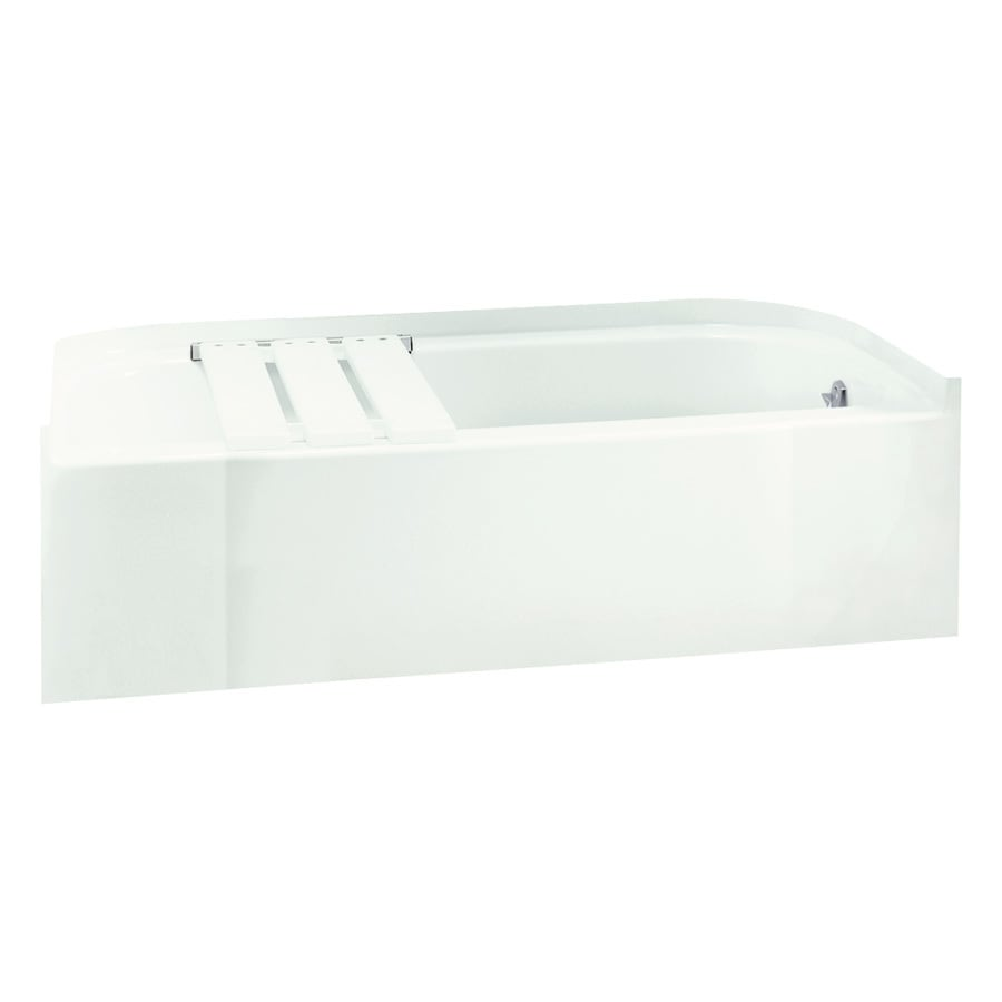 Sterling Accord White Fiberglass and Plastic Composite Rectangular Skirted Bathtub with Right-Hand Drain (Common: 30-in x 60-in; Actual: 15-in x 30.5-in x 60.25-in)