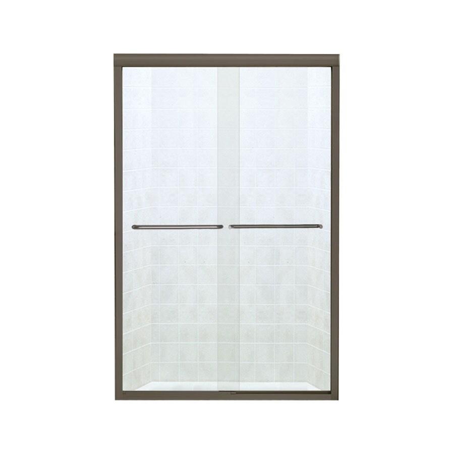 Sterling Finesse 40.375-in to 45.375-in W x 65.25-in H Deep Bronze Sliding Shower Door