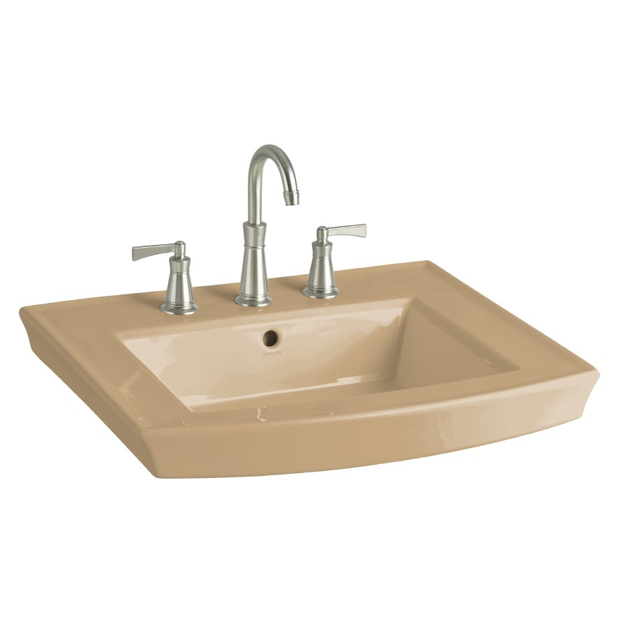 KOHLER 23.94-in L x 20.44-in W Mexican Sand Vitreous China Pedestal Sink Top