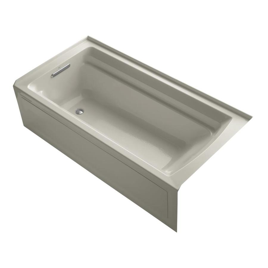 KOHLER Archer Sandbar Acrylic Rectangular Alcove Bathtub with Left-Hand Drain (Common: 36-in x 72-in; Actual: 19-in x 36-in x 72-in)