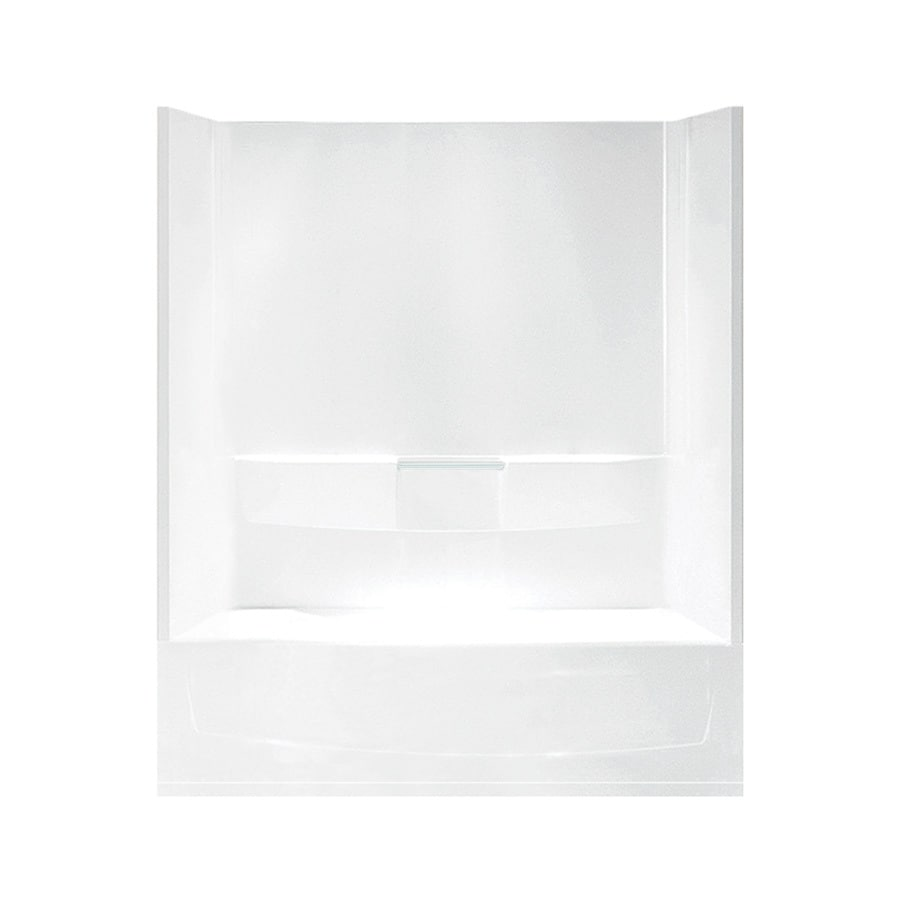 Sterling Performa White Fiberglass and Plastic Composite Oval In Rectangle Skirted Bathtub with Left-Hand Drain (Common: 29-in x 60-in; Actual: 75.5-in x 29-in x 60.25-in)