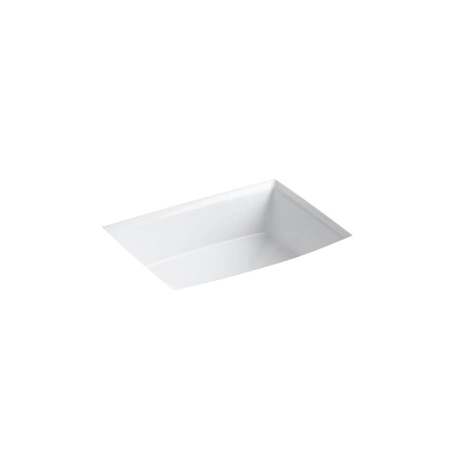 shop kohler archer white undermount rectangular bathroom