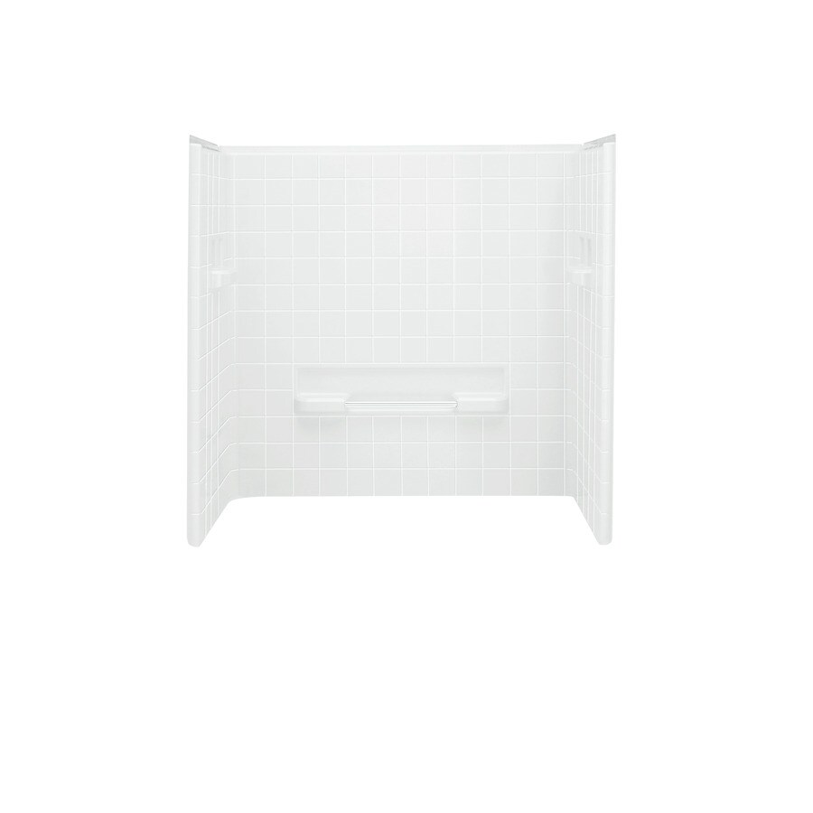 Sterling Advantage White Shower Wall Surround Back Panel (Common: 3-in; Actual: 66.25-in x 2.875-in)