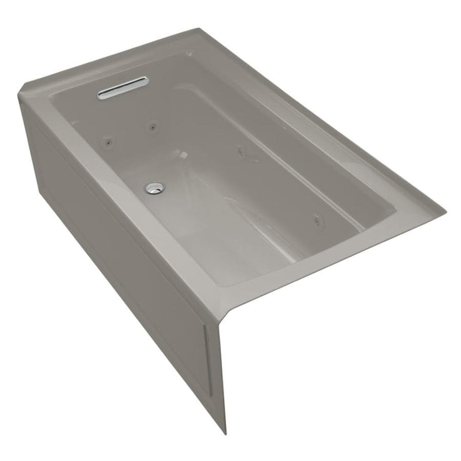 KOHLER Cashmere Acrylic Rectangular Whirlpool Tub (Common: 32-in x 60-in; Actual: 19-in x 32-in)